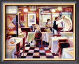 Bistro de la Nuit II Prints by Lisa Homan-Conger