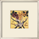 Vin Rouge Vin Blanc Framed Giclee Print by Kate Ward Thacker