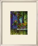 L'Auvent Bleu Prints by Robert Savignac