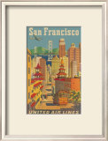 United Airlines: San Francisco, c.1950 Poster by Stan Galli
