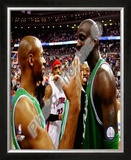 Kevin Garnett & Ray Allen 2007-08 Eastern Conference Finals Game 6 Celebration Framed Photographic Print