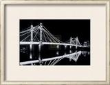 Albert Bridge at Night Poster by Bill Philip