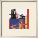 Brooklyn Bridge, c.1983 (black bridge/white background) Art by Andy Warhol