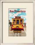 United Airlines: San Francisco, c.1950 Posters by Stan Galli
