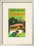 United Airlines: Disneyland in Anaheim, California, c.1960's Posters by Stan Galli