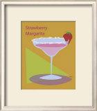 Strawberry Margarita Framed Giclee Print by  ATOM