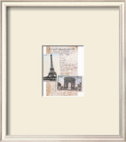 Paris, Eiffel Tower Posters by Susanna England
