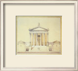 Temple at Ostia Art by F. Lawrence