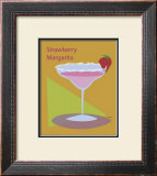 Strawberry Margarita Framed Giclee Print by  ATOM