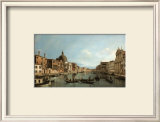 Venice: the Upper Reaches of the Grand Canal with S. Simeone Piccolo, c.1738 Posters by  Canaletto