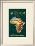 Africa by Clipper, c.1949 Prints
