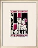 Folies-Bergere, La Grande Folie Framed Giclee Print by  Pico