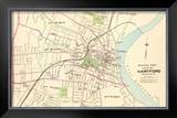 Connecticut: Hartford, Central, c.1893 Framed Giclee Print