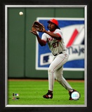 Vladimir Guerrero 2008 Fielding Action Framed Photographic Print