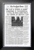 New York Times, May 8, 1945: V-E Day Framed Giclee Print