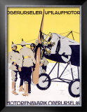 WWI, German Oberursel Aircraft Aviation Framed Giclee Print