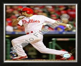 Shane Victorino Game 5 of the 2008 MLB World Series Framed Photographic Print