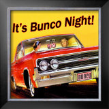 Bunco Night Framed Giclee Print