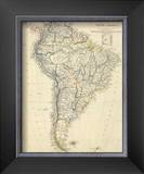 South America, c.1842 Framed Giclee Print