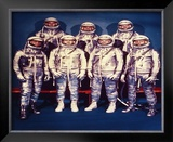 The 7 Mercury Astronauts, 1959 Framed Photographic Print