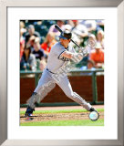 Nick Swisher 2008 Batting Action Framed Photographic Print
