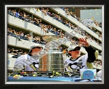 Marc-Andre Fleury & Sidney Crosby 2009 Stanley Cup Champions Victory Parade Framed Photographic Print