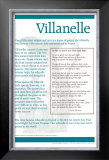Poetry Forms - Villanelle Prints