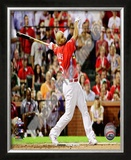 Albert Pujols 2009 Home Run Derby Framed Photographic Print