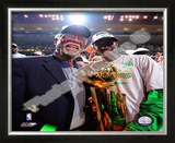 Kevin Garnett & Bill Russell, Game Six of the 2007-08 NBA Finals Framed Photographic Print