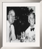 Harry Truman and Franklin D. Roosevelt Framed Photographic Print