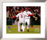 Albert Pujols And Scott Rolen Framed Photographic Print