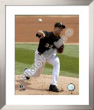 Javier Vazquez 2008 Pitching Action Framed Photographic Print