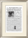 New York Times, October 5, 1957: Soviet Fires Satellite into Space Framed Giclee Print