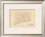 Connecticut: Senatorial districts, c.1893 Framed Giclee Print