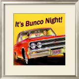 Bunco Night Framed Giclee Print