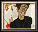 Autoportrait aux Alkekenges, c.1912 Prints by Egon Schiele