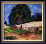 Summer Night at Asgarstrand Framed Giclee Print by Edvard Munch