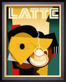 Cubist Latte Poster by Eli Adams