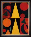 Soleil, c.1947 Poster by Auguste Herbin