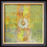 Floral with Cursive II Prints by Pierre Fortin
