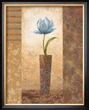 Brazen Blue Tulip Poster by  Nan