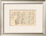 Connecticut: Hartford County North, c.1893 Framed Giclee Print