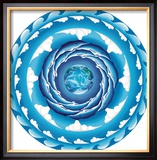 Water Spiral Framed Giclee Print by Jozef Smit
