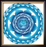 Water Spiral Framed Giclee Print by Jozef Smit