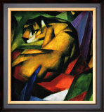 The Tiger Framed Giclee Print by Franz Marc