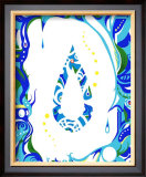 Color Melody: Color of June's Blue Rain and Lovely Drops of Water Framed Giclee Print by Kyo Nakayama