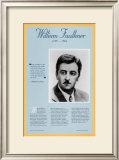 American Authors of the 20th Century - William Faulkner Posters