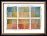 Six Happy Leaves and Natural Notes on Japanese Paper Framed Giclee Print by Miyuki Hasekura