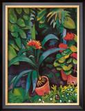 Blumen im Garten Print by Auguste Macke