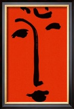 Visage Sure Fond Rouge Art by Henri Matisse